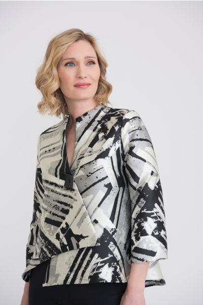 Joseph Ribkoff Black/Off White/Grey Jacket Style 204333