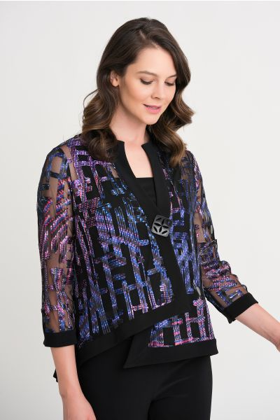 Joseph Ribkoff Purple/Multi Jacket Style 204334