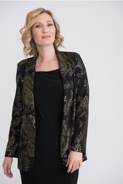 Joseph RIbkoff Black/Gold Blazer Style 204418