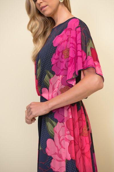 Joseph Ribkoff Black/Pink/Multi Jumpsuit Style 211007