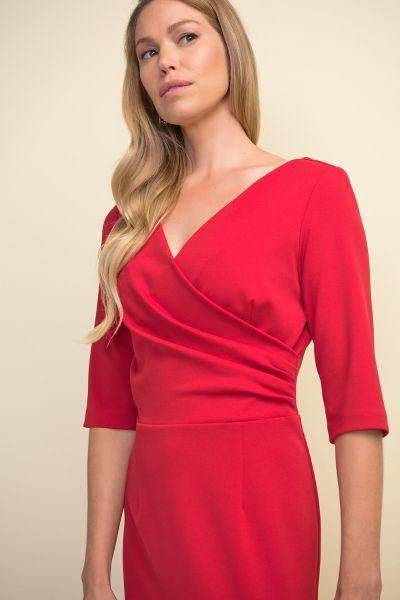 Joseph Ribkoff Lipstick Red Dress Style 211010