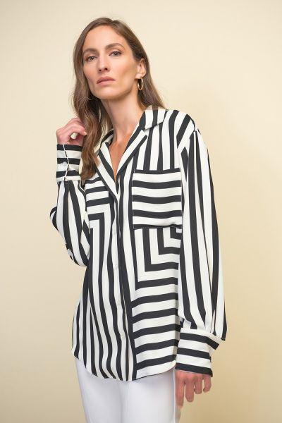 Joseph Ribkoff Black/White Blouse Style 211025