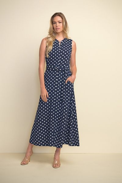 Joseph Ribkoff Midnight/White Dress Style 211027