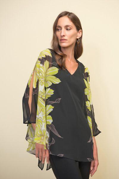 Joseph Ribkoff Black/Multi Tunic Style 211030