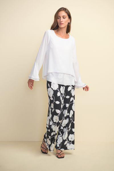 Joseph Ribkoff Off-White Layered Blouse Style 211043
