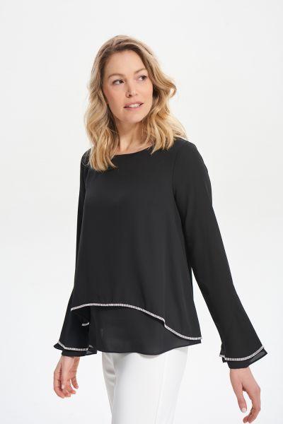 Joseph Ribkoff Black Layered Blouse Style 211043