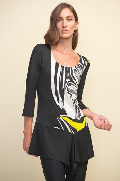 Joseph Ribkoff Black/Multi Tunic Style 211049