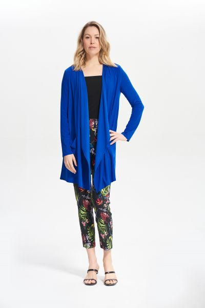 Joseph Ribkoff Royal Sapphire Open Front Draped Cover-Up Style 211061