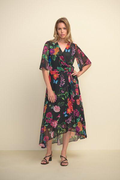Joseph Ribkoff Black/Multi Dress Style 211063