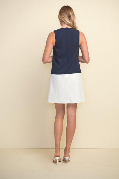 Joseph Ribkoff Midnight/White Dress Style 211091