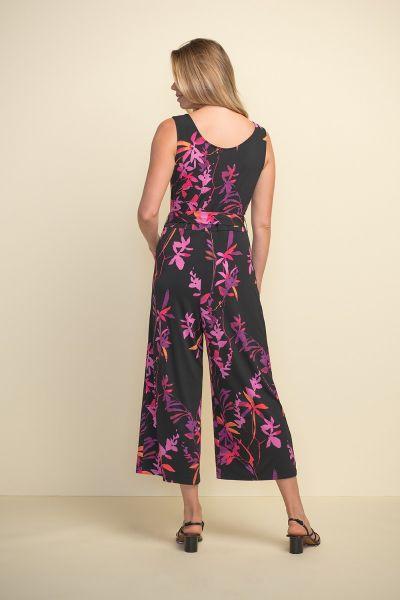 Joseph Ribkoff Black/Multi Jumpsuit Style 211112