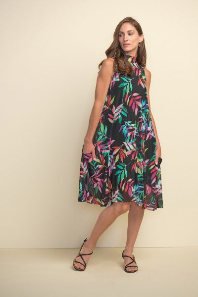 Joseph RIbkoff Black/Multi Dress Style 211135