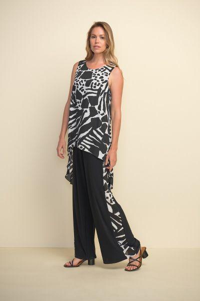 Joseph Ribkoff Black/Vanilla Jumpsuit Style 211187