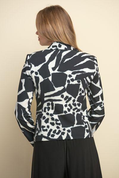Joseph Ribkoff Vanilla/Black Blazer Style 211209