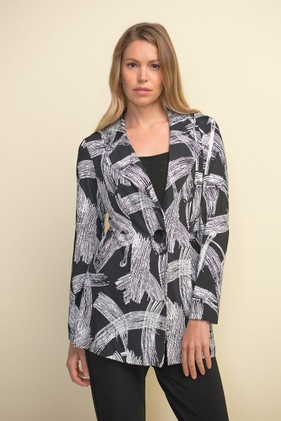 Joseph Ribkoff Printed Long Blazer Style 211212