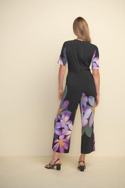 Joseph Ribkoff Black/Purple/Multi Jumpsuit Style 211218