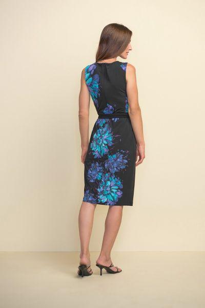 Joseph Ribkoff Sleeveless Floral Black/Multi Dress Style 211220