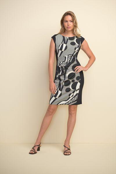 Joseph Ribkoff Black/Ecru Dress Style 211222