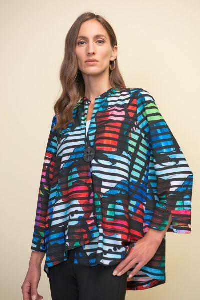 Joseph Ribkoff Black/Multi Jacket Style 211225