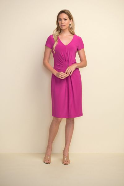 Joseph Ribkoff Orchid Gathered Front Dress Style 211234