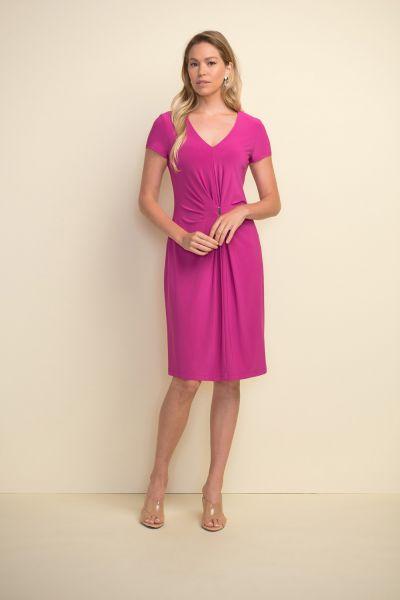 Joseph Ribkoff Orchid Gathered Front Dress Style 211234 - main