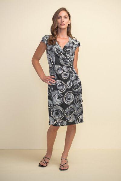 Joseph Ribkoff Black/White/Gold Dress Style 211245
