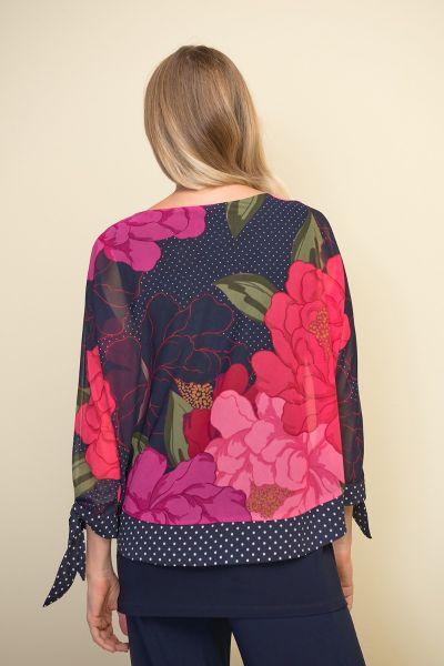 Joseph Ribkoff Pink/Multi Floral Top Style 211278