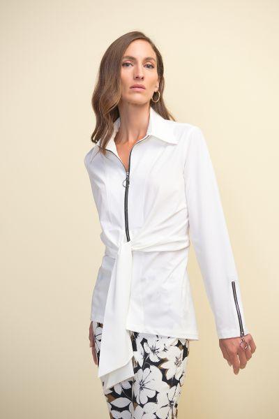 Joseph Ribkoff Optic White Blouse Style 211280