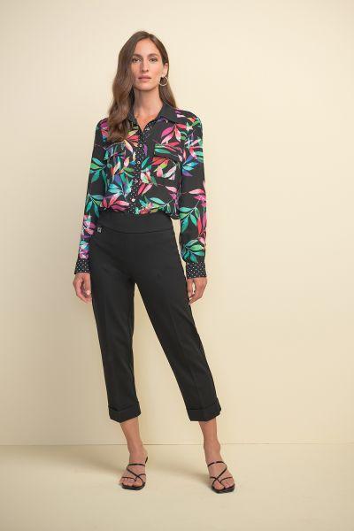 Joseph Ribkoff Black/Multi Blouse Style 211303