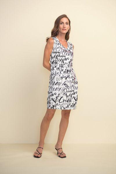Joseph Ribkoff Vanilla/Black Dress Style 211309