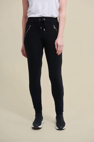 Joseph Ribkoff Black Drawing Waist Pants Style 211317 - main
