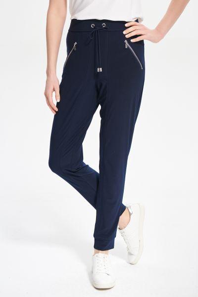 Joseph Ribkoff Midnight Blue Drawing Waist Pants Style 211317