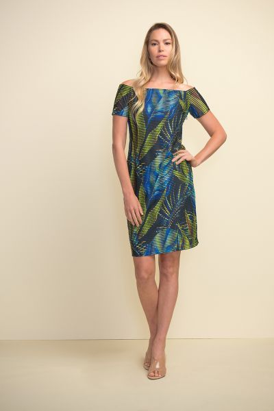 Joseph Ribkoff Black/Multi Dress Style 211324