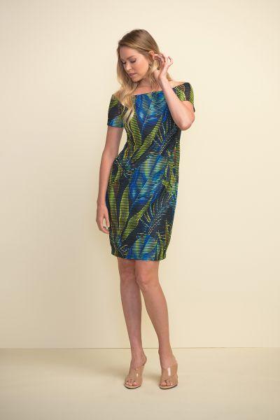 Joseph Ribkoff Black/Multi Dress Style 211324