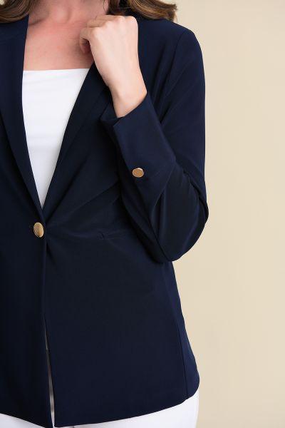 Joseph Ribkoff Midnight Blue One Button Blazer Style 211328