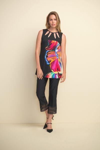 Joseph Ribkoff Black/Multi Tunic Style 211331