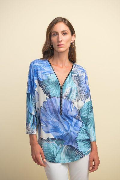 Joseph Ribkoff Blue/Multi Top Style 211335