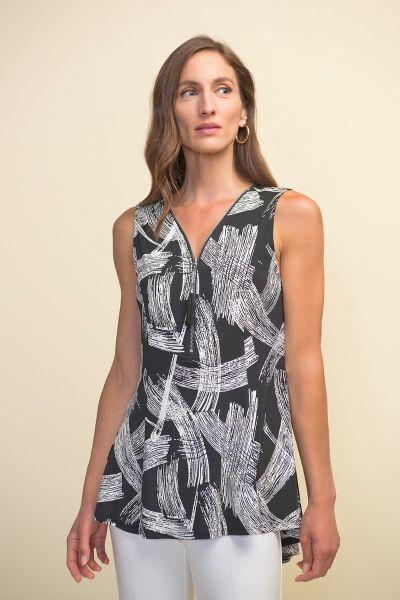 Joseph Ribkoff Black/White Top Style 211337