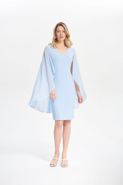 Joseph Ribkoff Moonlight Sheer Cape Dress Style 211341