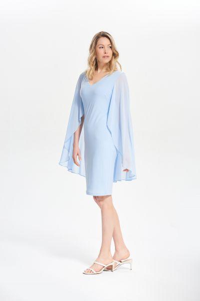 Joseph Ribkoff Moonlight Sheer Cape Dress Style 211341
