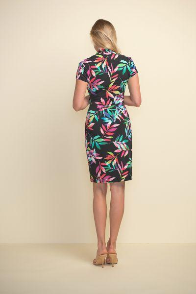 Joseph Ribkoff Black/Multi Dress Style 211349