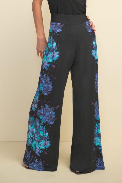 Joseph Ribkoff Black/Multi Pants Style 211355