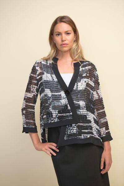 Joseph Ribkoff Black/White Jacket Style 211360