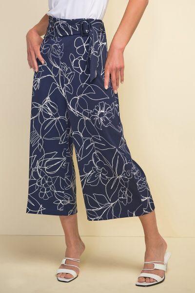 Joseph Ribkoff Midnight/Vanilla Pant Style 211362