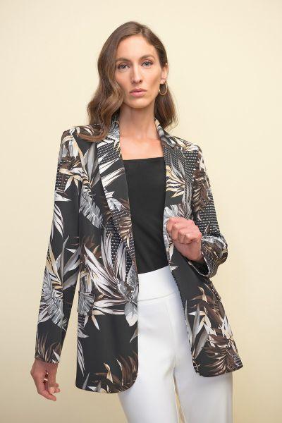 Joseph Ribkoff Black/Multi Blazer Style 211364