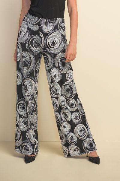 Joseph Ribkoff Black/White/Gold Pant Style 211365