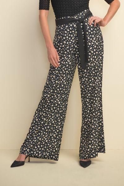 Joseph Ribkoff Black/Ecru Pant Style 211371