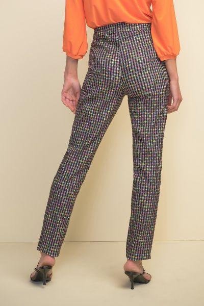 Joseph Ribkoff Black/Multi Pant Style 211376