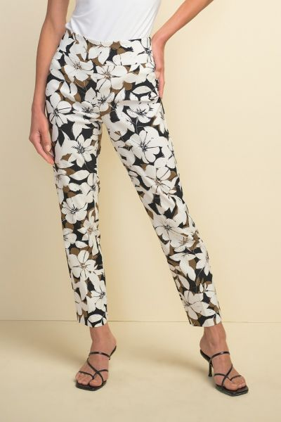 Joseph Ribkoff Olive/Black Pants Style 211390