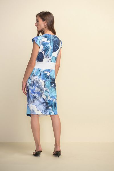 Joseph Ribkoff Blue/Multi Dress Style 211396